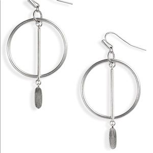 Nalani Open Frame Earrings in Silver